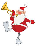 Cute Santa Claus Cartoon Royalty Free Stock Photos