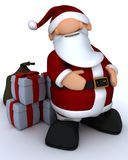 Cute Santa Claus Charicature Stock Photo