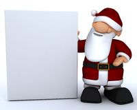 Cute Santa Claus Charicature Stock Photos