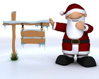 Cute Santa Claus Charicature Stock Images