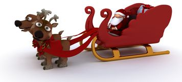 Cute Santa Claus Charicature Royalty Free Stock Photo