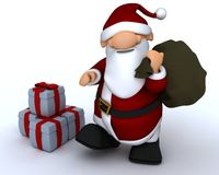 Cute Santa Claus Charicature Royalty Free Stock Image