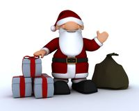 Cute Santa Claus Charicature Royalty Free Stock Images