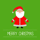 Cute Santa Claus. Green background.  Merry Christm Royalty Free Stock Photos