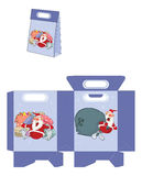 Cute Santa Claus. Handbags Packages Pattern Stock Photography