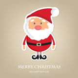 Cute Santa Claus  icon on  brown background. Stock Photo