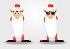 Cute santa claus with long beard Royalty Free Stock Photo