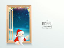 Cute Santa Claus for Merry Christmas celebration. Stock Image