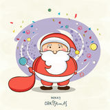 Cute Santa Claus for Merry Christmas celebrations. Stock Photos