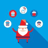 Cute Santa Claus modern flat design style Royalty Free Stock Photography