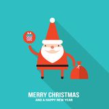 Cute Santa Claus modern flat design style Royalty Free Stock Images