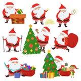 Cute Santa Claus vector set. Stock Photo