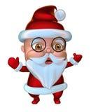 Cute Santa Claus waving hands (3D illustration) Royalty Free Stock Image