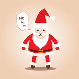 Cute Santa Clauses.Cartoon styles for christmas. Royalty Free Stock Image