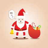Cute Santa Clauses.Cartoon styles for christmas. Royalty Free Stock Photos