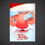 Cute Santa face poster Royalty Free Stock Photo