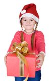 Cute Santa with gift Stock Photography