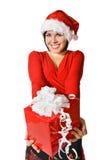 Cute Santa with gift box Royalty Free Stock Photo