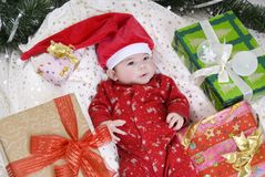 Cute santa girl Royalty Free Stock Photos