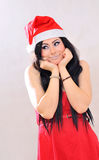 Cute santa girl Royalty Free Stock Image
