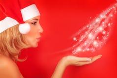 Cute Santa girl Royalty Free Stock Image