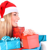 Cute Santa helper Royalty Free Stock Photography