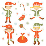 Cute Santa helpers Stock Photography