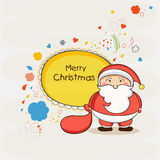 Cute Santa for Merry Christmas celebrations. Stock Images