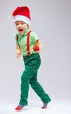 Cute santa's helper on white Royalty Free Stock Image