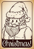 Cute Santa's Portrait, Vector Illustration Royalty Free Stock Image