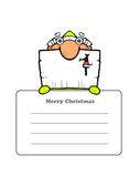Cute Santa's Postcard Royalty Free Stock Images