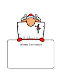 Cute Santa's Postcard Royalty Free Stock Photography