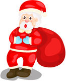 Cute Santa with sack Royalty Free Stock Image