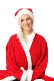 Cute santa sitting down Royalty Free Stock Photos