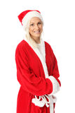 Cute santa standing on white background Royalty Free Stock Photos