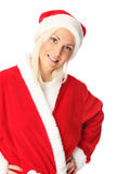 Cute santa standing on white background Royalty Free Stock Photo