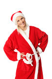 Cute santa standing on white background Stock Photography