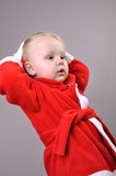 Cute  Santa toddler boy Stock Photo
