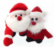 Cute santa toys Royalty Free Stock Photos
