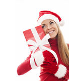 Cute santa woman Stock Photos