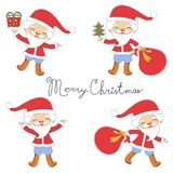 Cute Santas collection Stock Images