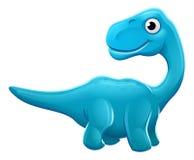 Cute Sauropod Cartoon Dinosaur. A cute cartoon Sauropod Diplodocus Apatosaurus or Brontosaurus dinosaur character Royalty Free Stock Images