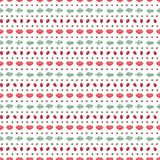 Cute Scandinavian seamless pattern. Cute hand drawn seamless vector pattern with floral elements, on a white background. Scandinavian design style. Concept for Royalty Free Stock Photography