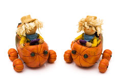 Cute Scarecrows Royalty Free Stock Photo