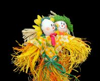 Cute scarecrows Royalty Free Stock Images