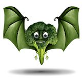 Cute Scary Broccoli Character royalty free illustration