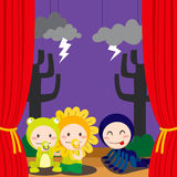 Cute Scary Theater Stock Images