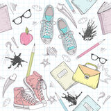 Cute school abstract pattern Stock Photography