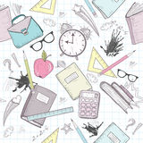 Cute school abstract pattern Stock Images