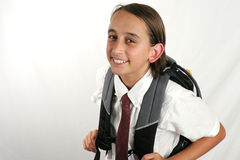 Cute School Boy Stock Photos